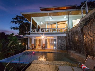 Photo for Waterfall pool, Jungle Views, Terrace, Sleeps 10 w/optional apt, concierge.