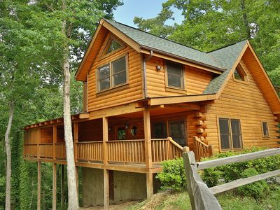 Photo for Beautiful Cabin in The Smoky Mountains! Pool Table & Hot Tub, On Site Pool, Putt Putt, Fishing Ponds