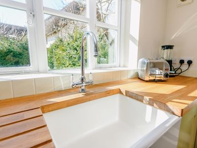 Wash up with views of the terrace