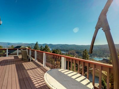Photo for NEW LISTING! Lakeview home w/ furnished deck, full kitchen, & entertainment room