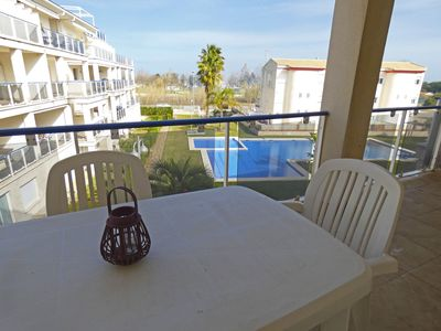 Photo for Wonderful and cheerful apartment  with communal pool in Oliva, on the Costa Blanca, Spain for 4 persons