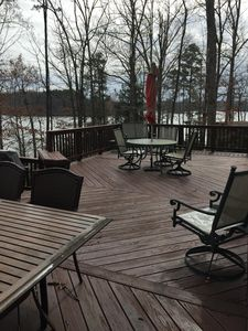 Plenty of space right off the house for entertaining and relaxing.