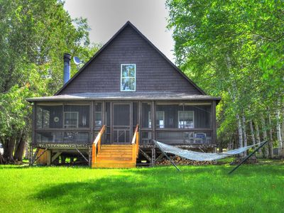 Photo for Casino - Cabin in the Barker Loop Cottage with it's own private, sandy beach!