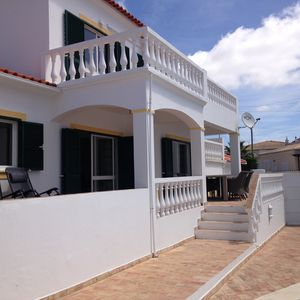 Steps from the pool area to the veranda