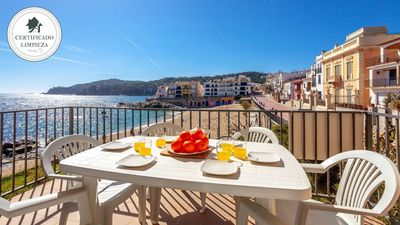 Photo for TRAGAMAR  A-seafront apartment-Calella de Palafrugell-Costa Brava