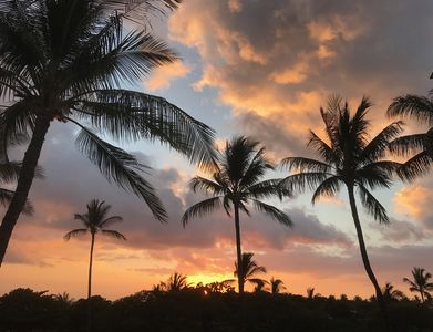 One of many sunsets seen from our lanai.