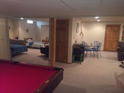 Photo for Modern Lower Unit on Golf Course.  Perfect for Elkhart, EAA and the Fox Valley.