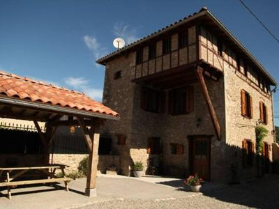 Photo for Country Cottage / Gite - Gajan Carefully renovated typical Ariège farm house with dovecote.
