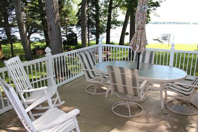 Large deck with great lake views