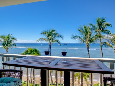 Photo for Oceanfront Condo at Lahaina Shores with Sweeping Ocean Views