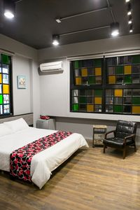 Photo for Industrial Style Big bed Double room - Near Tainan TRA station
