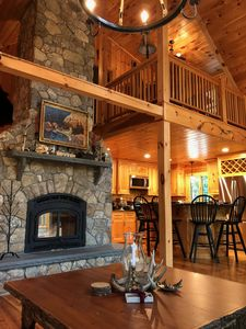 Photo for Log Home Nestled Between The White Mountains and The Lakes Region