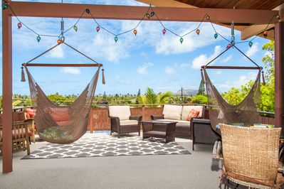 500 square foot lanai, with sweeping views of Kailua