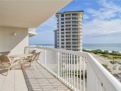 Photo for Chic, coastal beachfront condo w/2 private balconies! 🐚