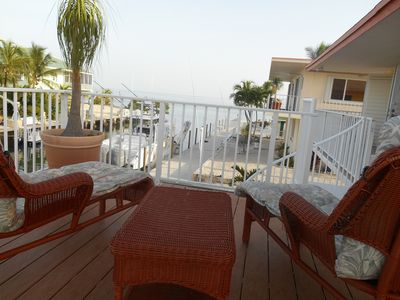 Enjoy the breathtaking open ocean views from the large back deck!