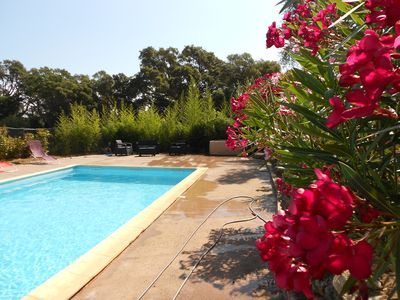 Photo for detached villa / private pool and spa / 4 bedrooms with bathroom + Menage