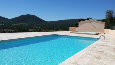 Photo for 'Cottage style' apt with views of Le Plan de la Tour & only 10 mins to the beach