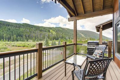 Get some mountain air on your own private balcony.