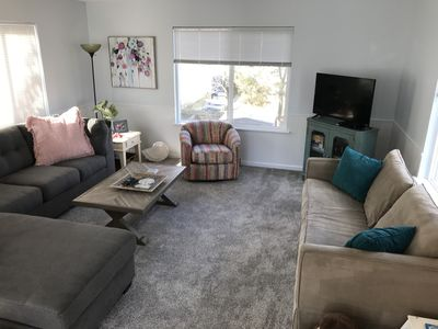 Photo for Dog Friendly Beach House with Parking, 1 short block from the Beach