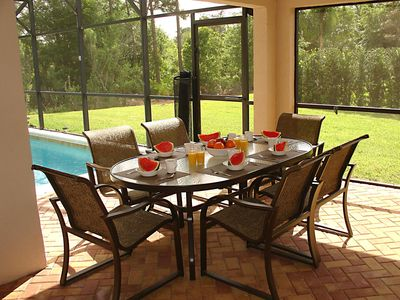 Enjoy Breakfast in our peaceful setting