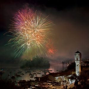 Firework display takes place in front of the villa every summer in June.