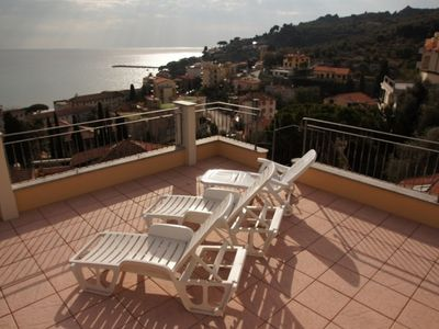 Photo for Balcony and roof terrace Nice sea view Sandy beaches  and shops within walking distance