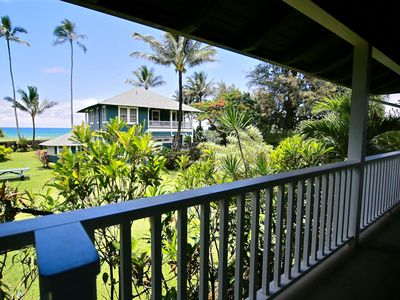 Hanalei Bay. Beachfront Estate Cottage. 3BR Sleeps 4-6