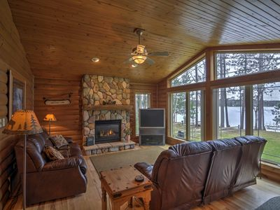 Photo for Lakeside St. Germain House w/Fire Pit, Deck & Dock