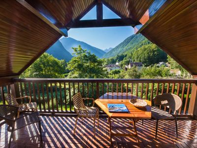 Photo for T2 calm mountain view, 600m Luchon center, large south loggia, 3rd floor