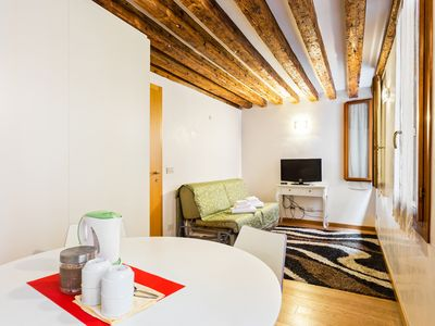 Photo for Second-floor suite with WiFi just steps from St. Mark's Square!