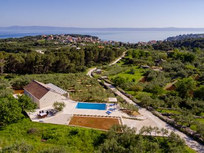 Photo for Amazing new villa with heated pool, sunbath area, surounded with olive trees****