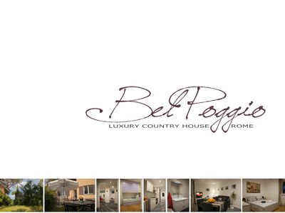 Photo for Bel Poggio Country House LUXURY Rome apartment in the countryside portion of the villa
