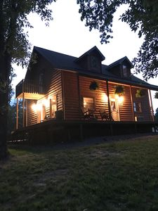Photo for Log cabin hot tub, fire pit; visit wine trail!