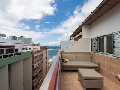 Photo for Penthouse studio with sea view terrace
