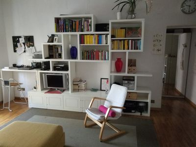 Photo for Room in cozy apt in piazza Bologna university area