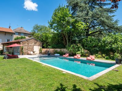 Photo for L'Antiquaire - Chic and trendy family house with garden and swimming pool