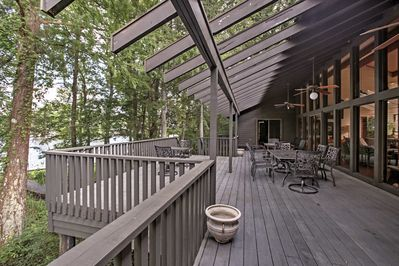 Enjoy river views from the expansive deck.
