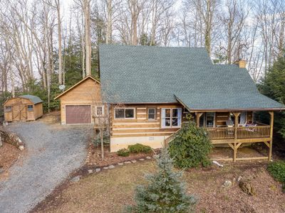 """Photo for Laurelwood - Find Your Serenity - NEW Hot Tub, Wi-Fi, 65"""" TV, Fireplace, Gardens"""
