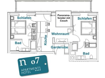 Photo for n 07 2-4 persons - 2. OG - approx. 57 m2 - privacy and morning sun - n Apartments Hotel ****