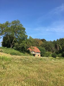 Photo for Very idyllic small country house on the edge of the forest with a wide view ..