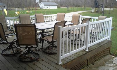 Main level deck for morning coffee?