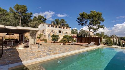Photo for Rustic villa exclusive design 10 minutes from Palma, AC, wi-fi, private pool