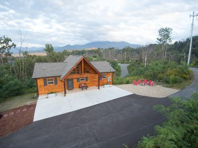 Photo for Brand New Luxury Cabin! Mt LeConte Views and Private Setting in Chalet Village