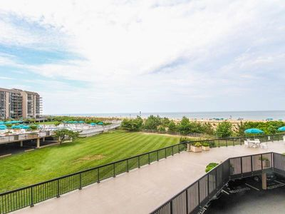Photo for F211: 2BR+den Sea Colony Oceanfront Condo! Private beach, pools, tennis ...