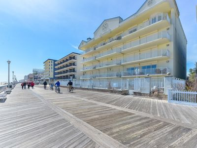 Photo for Huge Gorgeous Direct Ocean Front Boardwalk condo with Pool and Incredible Views
