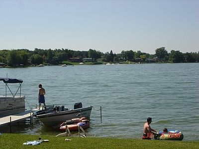 This is the life!  tubing, boating, sunning, fishing...you can do it all:)
