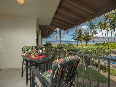 Photo for Waiohuli Beach Hale D-225 1Bd/1Ba Oceanfront Ocean View Sleeps 4 Great Rates!