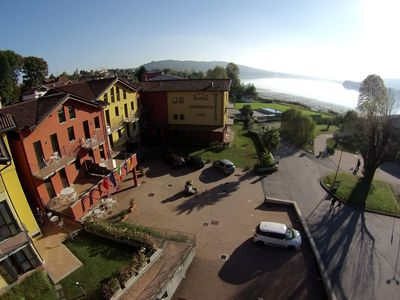 Photo for Nice apartment in a residence just 100 meters from the small lake of Comabbio