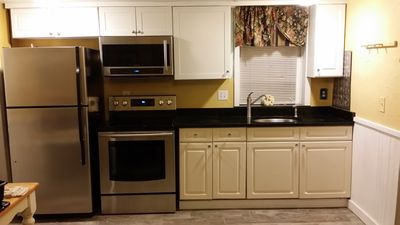 Hideaway  3 bedroom Kitchen features 2016 Samsung Stainless Steel appliances
