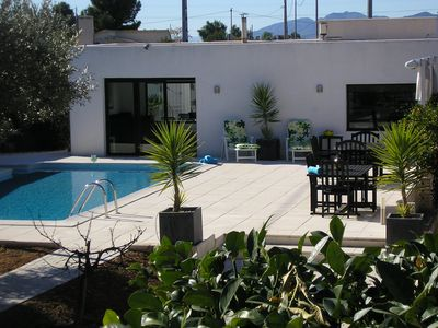 Photo for Sophisticated Country Villa, Private Pool, Jacuzzi, Air Con,Golf
